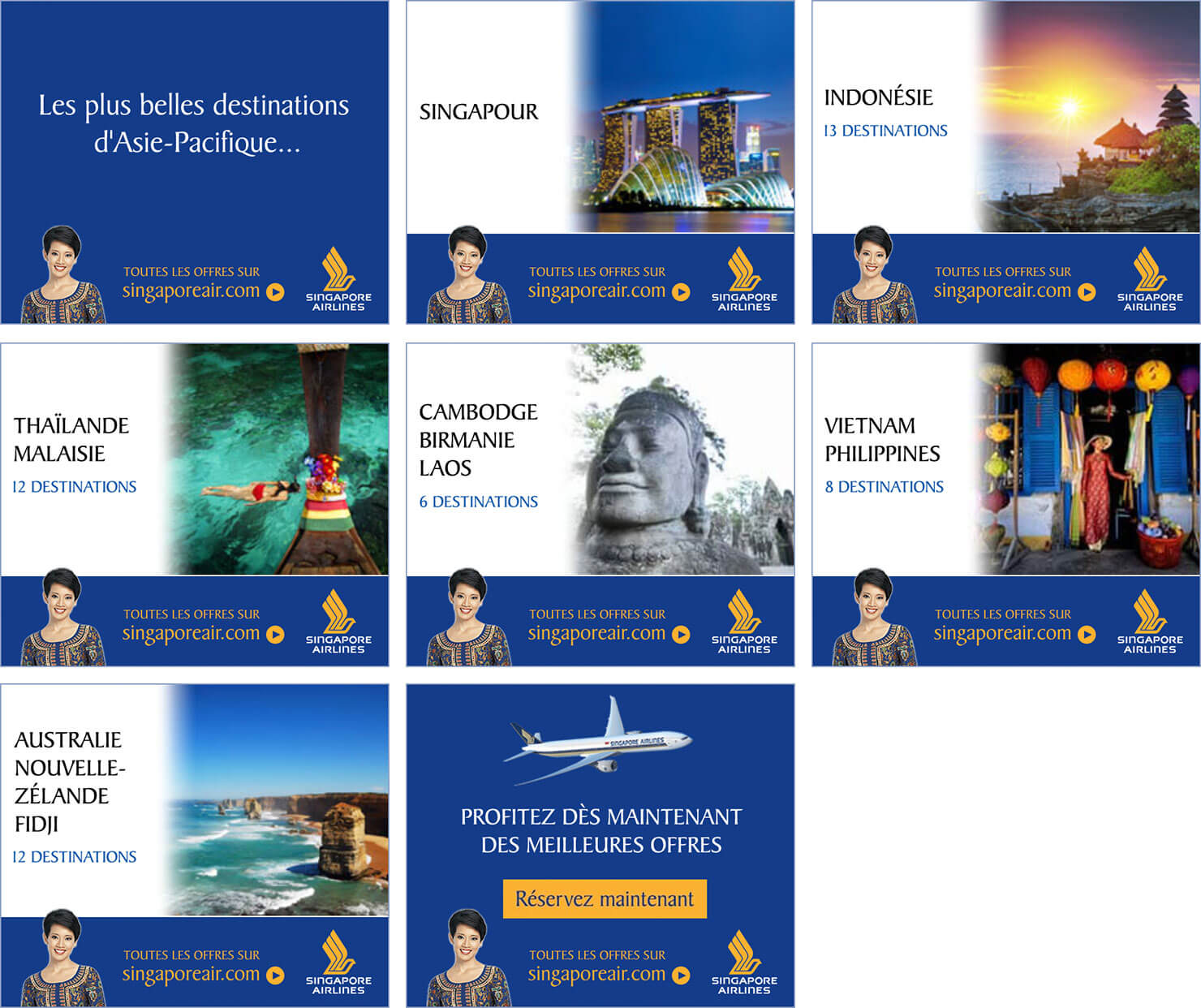 Singapore Airlines HTML5 banner storyboard