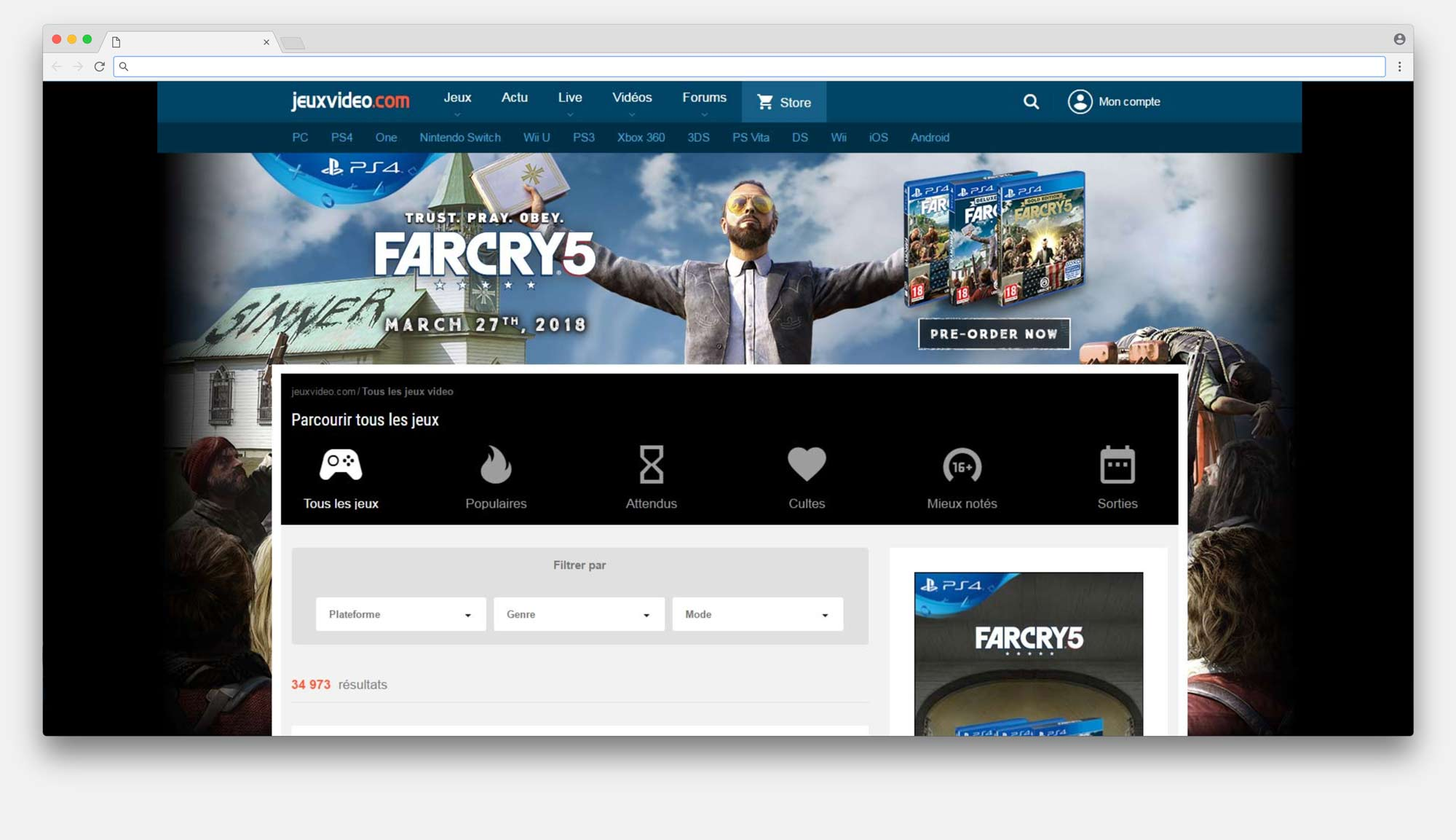 Farcry5 Homepage Takeover